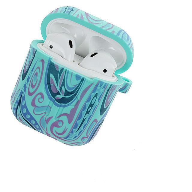 Teal Peace AirPods Case Shock Proof Cover-iAccessorize