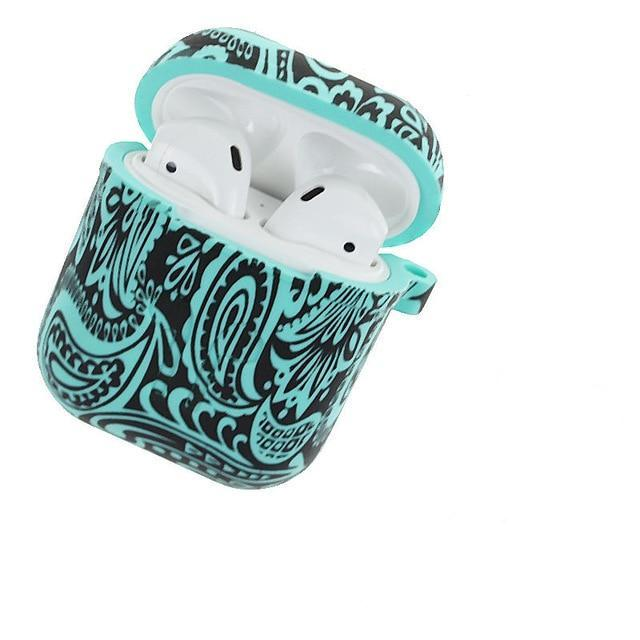 Teal Tribal AirPods Case Shock Proof Cover-iAccessorize