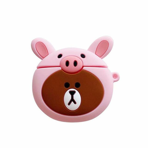 Teddy Bear in a Pig Costume Premium AirPods Case Shock Proof Cover-iAccessorize