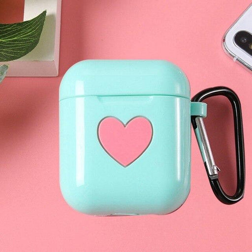 Tiffany Blue Heart AirPods Case Shock Proof Cover-iAccessorize
