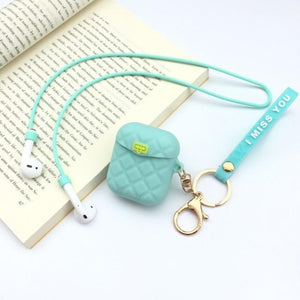 Tiffany Blue Pocketbook Air Pods Case Shock Proof Cover-iAccessorize