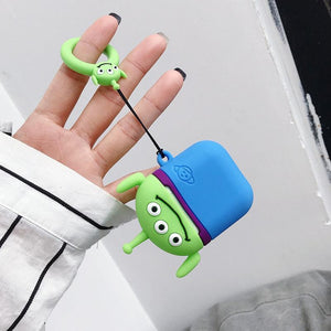 Toy Story Squeeze Toy Aliens Pizza Planet Martian Premium AirPods Case Shock Proof Cover-iAccessorize