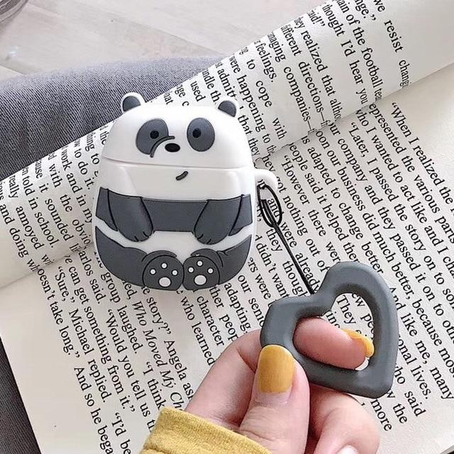 We Bare Bears Panda Premium AirPods Case Shock Proof Cover-iAccessorize