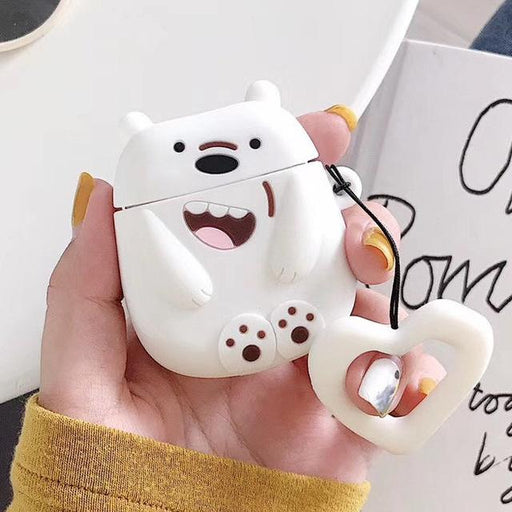 We Bare Bears Polar Ice Bear Premium AirPods Case Shock Proof Cover-iAccessorize