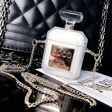 Load image into Gallery viewer, White Chanel Perfume Bottle AirPods Case Shock Proof Cover-iAccessorize