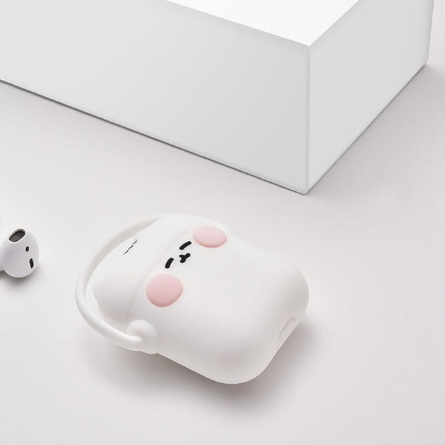 White Headphones Cat AirPods Case Shock Proof Cover-iAccessorize