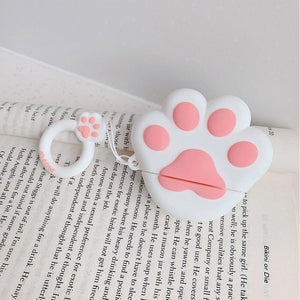 White Paw AirPods Case Shock Proof Cover-iAccessorize