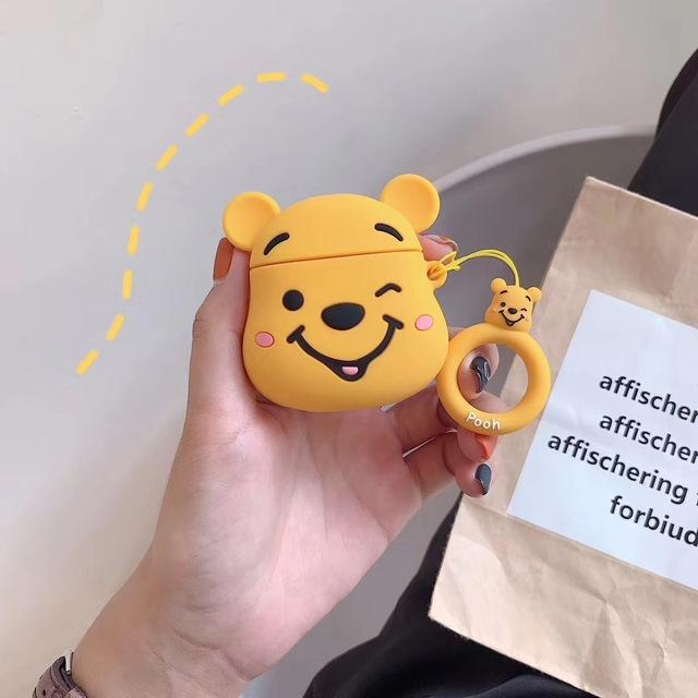 Winking Winnie the Pooh Premium AirPods Case Shock Proof Cover-iAccessorize