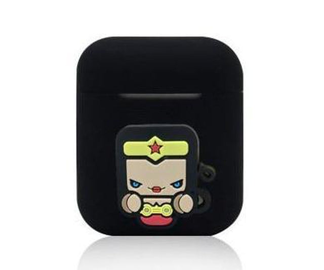 Wonder Woman Black AirPods Case Shock Proof Cover-iAccessorize