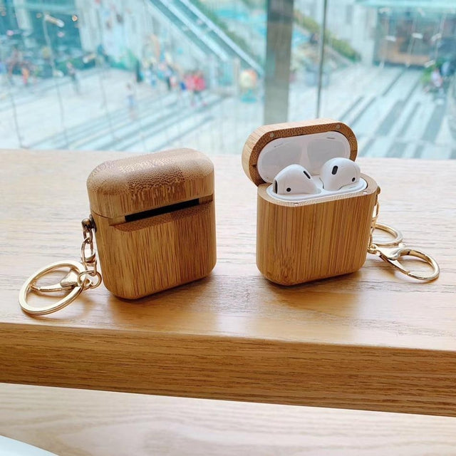 Wood Premium AirPods Case Shock Proof Cover-iAccessorize