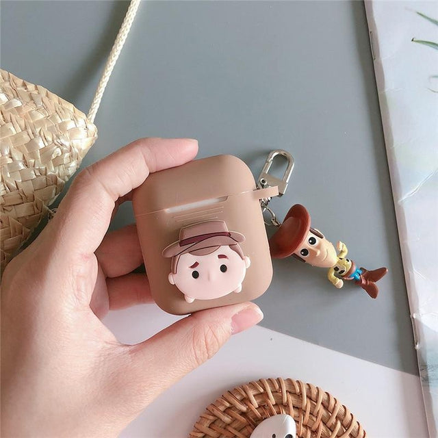 Woody AirPods Case Shock Proof Cover-iAccessorize