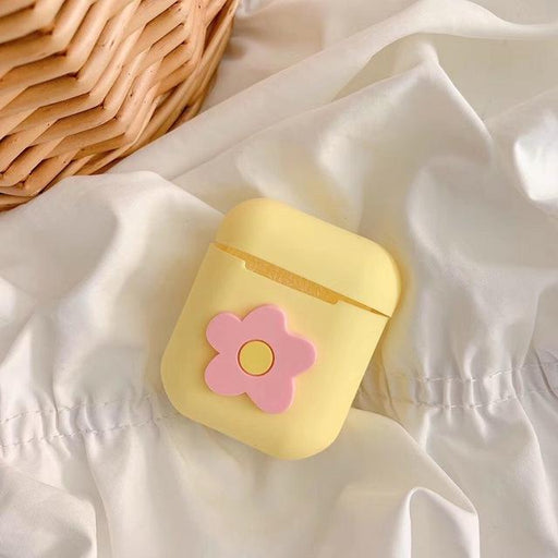Yellow Flower AirPods Case Shock Proof Cover-iAccessorize