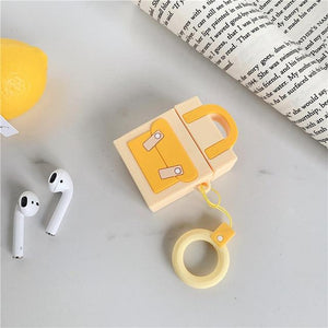 Yellow Pocketbook Premium AirPods Case Shock Proof Cover-iAccessorize