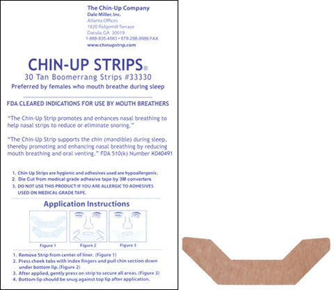 TAN Boomerang Chin-Up Strips - 6 packs of 30 - FREE SHIPPING!
