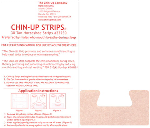 TAN Horseshoe Chin-Up Strips - 6 packs of 30 - FREE SHIPPING!