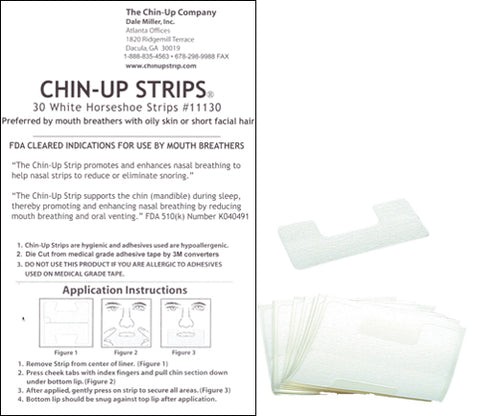 WHITE Horseshoe Chin-Up Strip 30ct pack - FREE SHIPPING!
