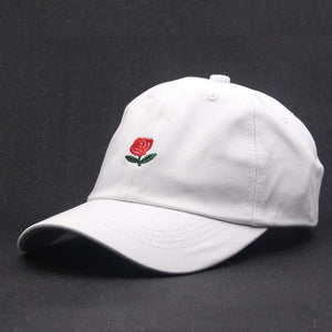 Hat - Rose Embroidered Dad Hat