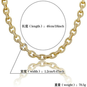 18mm Luxury Full CZ Stone Paved Miami Cuban Necklace 24 Gold Filled Coper Men Bling Iced Out Hip Hop Rapper Chain Jewelry