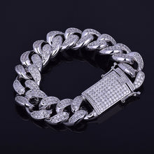 Load image into Gallery viewer, Chunky Iced Out Miami Cuban Link Bracelets  Gold Silver