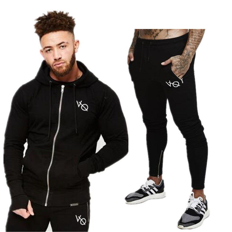 2018 VQ fitness brand sportswear suit of autumn