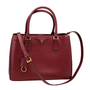 087aae8a30 Prada Women s Red Leather Tote Bag With Strap BN1874 Cerise