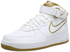 3184ea37f61b Nike Air Force 1 Mid  07 Leather Men s Shoes White Muted Bronze aq8650-101