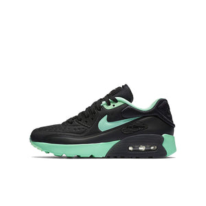 best sneakers b53e2 82855 NIKE AIR Max 90 Ultra SE (GS) Girls Running-Shoes 844600-003 6Y -  Black Green Glow-Pure Platinum