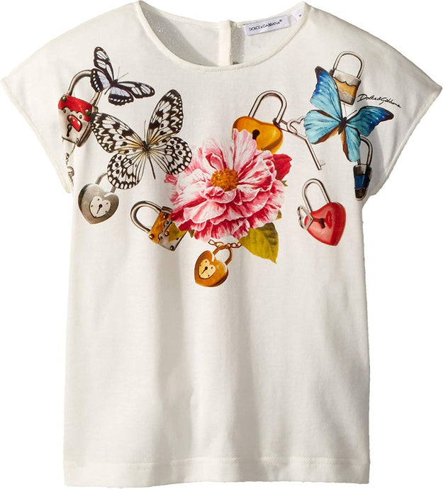 Dolce   Gabbana Kids Womens T-Shirt (Toddler Little Kids) 240826ccb