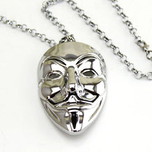 Load image into Gallery viewer, Fashion Hip Hop Jewelry Movie V for Vendetta Mask Exaggerated Hacker Mask necklaces For Men And Women 1 Pcs