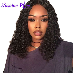 Fashion Plus Short Lace Front Human Hair Wigs With Baby Hair 10''-14'' Lace Frontal Wig With Pre Plucked Baby Hair T Lace 11x5