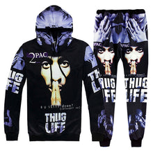 Load image into Gallery viewer, 2 Piece Set Men And Women Casual Tracksuits 3D Print Hip-hop