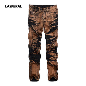 LASPERAL 2018 New Fashion Vintage Men Denim Jeans Classics Jeans Slim Mens Designer Jeans Pants Clothing Plus Size Male Trousers