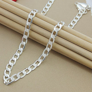 Men 10MM Hip Hop Chain Necklaces 925 Sterling Silver Jewelry AAA Quality