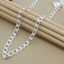 Load image into Gallery viewer, Men 10MM Hip Hop Chain Necklaces 925 Sterling Silver Jewelry AAA Quality