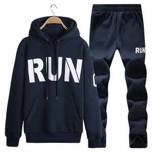 Men's Tracksuit Warm Sportwear  Set Men