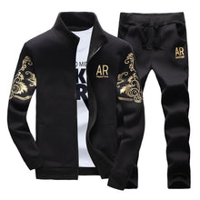 Load image into Gallery viewer, Mens Tracksuit Outwear Hoodie Autumn sporting track suit.  Jacket+Pants Sets