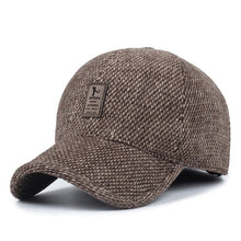 Load image into Gallery viewer, Woolen Knitted Design Winter Baseball Cap Men Thicken Warm Hats with Earflaps