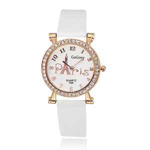 Luxury Diamond Lady Fashion Eiffel Tower Quartz Watch