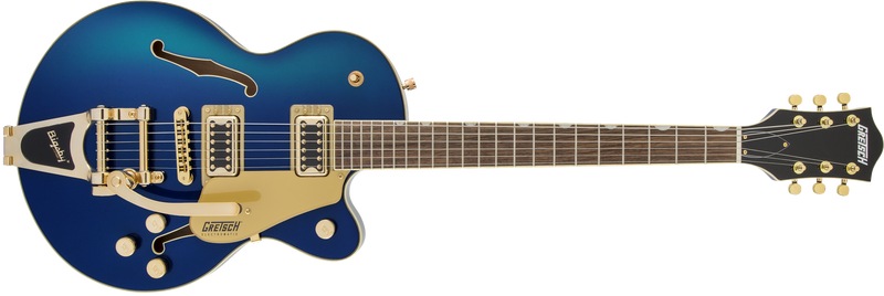 Gretsch G5655TG Electromatic Center Block Jr. Single-Cut with Bigsby and Gold Hardware - Azure Metallic