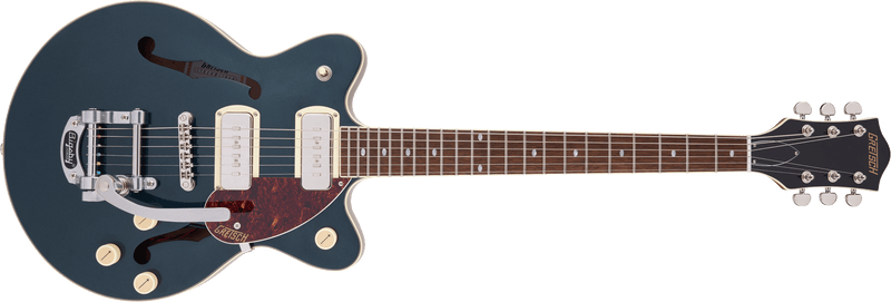 Gretsch G2655T-P90 Streamliner Center Block Jr. Double-Cut P90 with Bigsby - Two-Tone Midnight Sapphire and Vintage Mahogany Stain