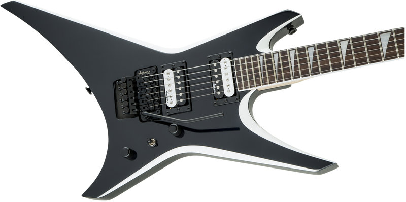 Jackson JS32 Warrior - Black with White Bevels