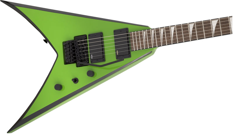 Jackson X Series King V KVXMG - Slime Green with Black Bevels