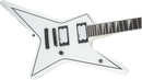 Jackson JS Series Signature Gus G. Star JS32T - Satin White with Black Pinstripes