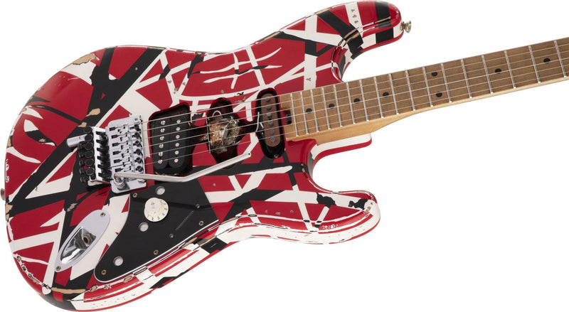 EVH Striped Series Frankie - Red/White/Black Relic