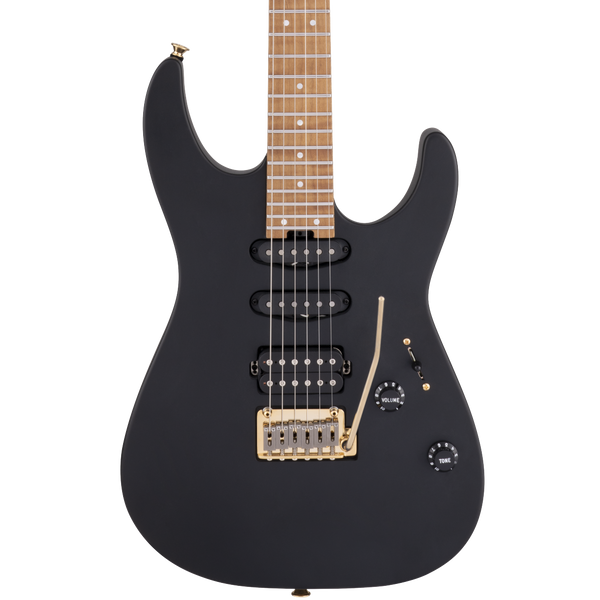 Charvel USA Select DK24 HSS 2PT CM - Satin Black - Safe Haven Music Guitars