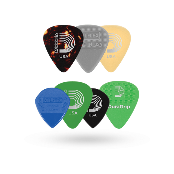 D'Addario Assorted Guitar Picks, 7-pack, Heavy