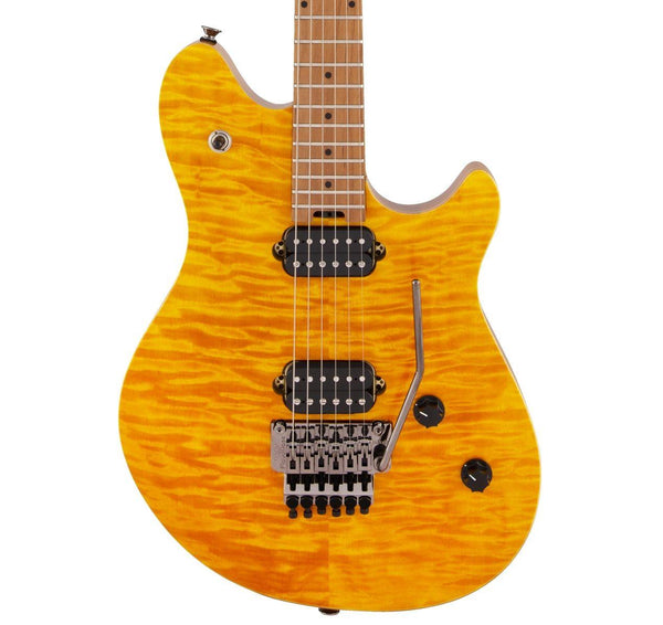 EVH Wolfgang Standard QM - Transparent Amber - Safe Haven Music Guitars