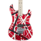 EVH Striped Series 5150 Red with Black and White Stripes - Safe Haven Music Guitars