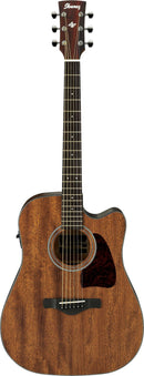 Ibanez AW54CE Artwood Dreadnought Acoustic-Electric Guitar - Open Pore Natural