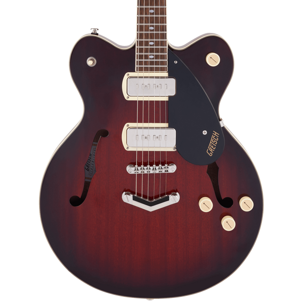 Gretsch G2622-P90 Streamliner Center Block Double-Cut P90 with V-Stoptail - Claret Burst